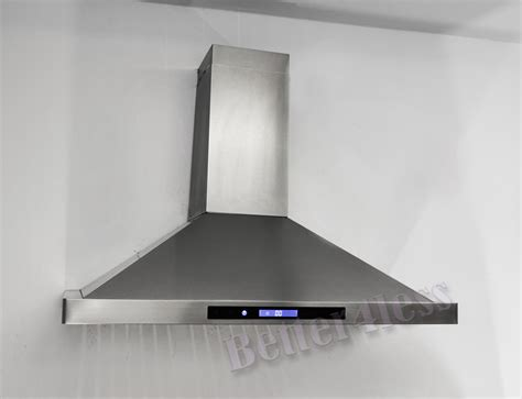 wall mount ventilation fan 36 quot wall mount stainless steel kitchen range hood vent