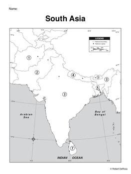 south america map blackline master south asia mapping activity map activities activities