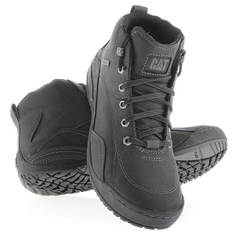 new mens caterpillar cat adapt mid black waterproof