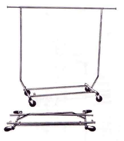 Salesman Clothing Rack by Single Bar Collapsible Salesman S Clothing Rack