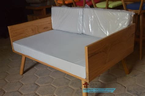Sofa Bed Kayu Jati sofa jati minimalis sjt 033 mebel jati minimalis mebel