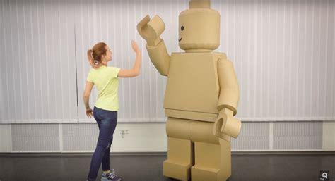 adult size legos cardboard lego costume is fun halloween diy project
