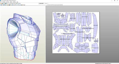 chest armor template destiny titan iron companion chest plate foam pepakura
