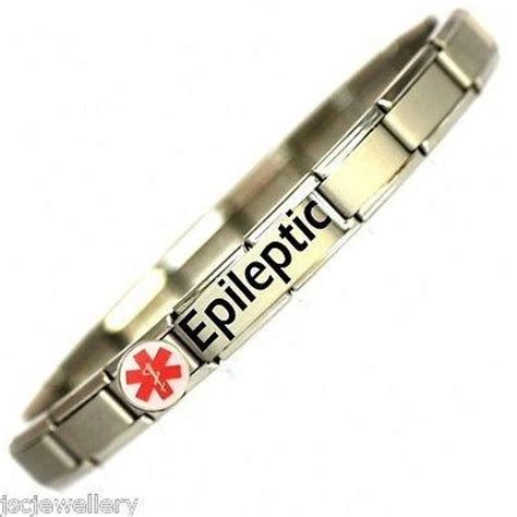 Bracelet One Size epileptic alert sos stainless steel bracelet one
