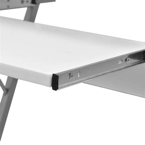 roll out computer desk vidaxl co uk computer desk pull out tray white furniture