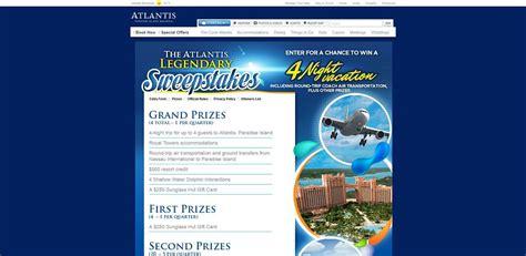 Atlantis Sweepstakes 2017 - atlantis legendary sweepstakes