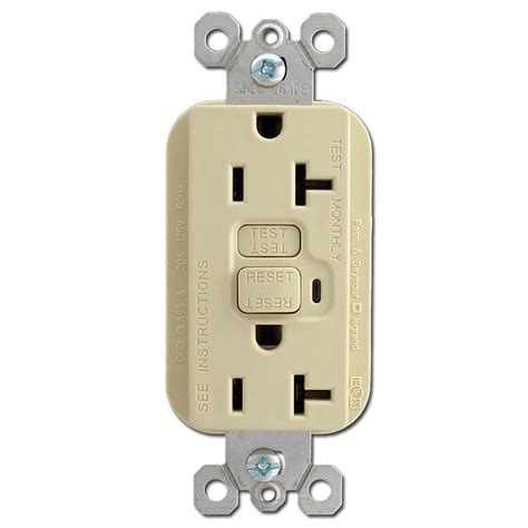 electrical outlet switch ivory 20a gfci duplex receptacle kyle switch plates