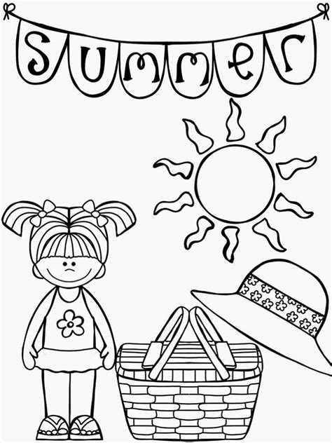 summer santa coloring page print summer coloring packet homework packets cover page