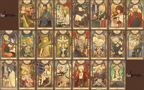 Fate Go Card Template by Fate Apocrypha Tarot Cards Album Typemoon