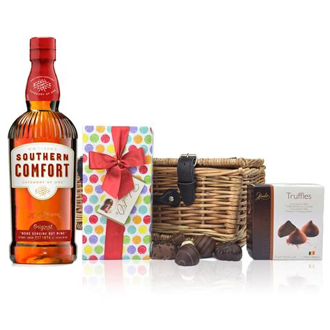 comfort gifts southern comfort and chocolates her a delightful gift