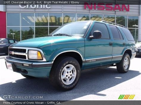 Bright Ls by Bright Teal Metallic 1995 Chevrolet Blazer Ls 4x4