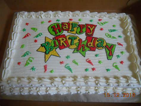 Sheet Cake Decoration by Happy Birthday Sheet Cake Cake Decorating