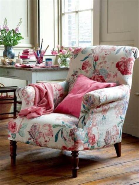 elegantes tapicerias de estampado floral