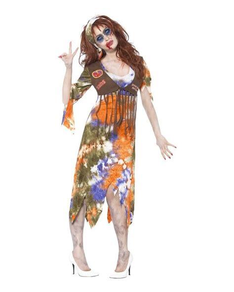 girls flower power hippie costume halloweencostumescom zombie costume hippie flowerpower dress in zombie look