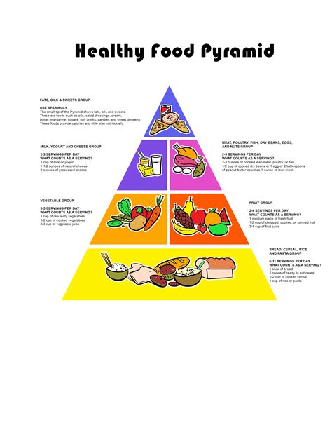 Food Pyramid Worksheet by Printable Healthy Pyramid Pictures To Pin On