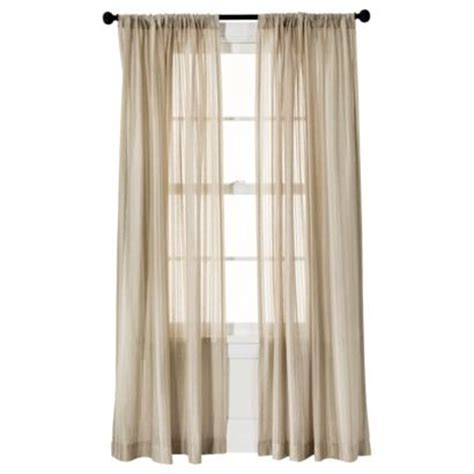 tan sheer curtains tan or ivory threshold leno weave window sheer bedroom