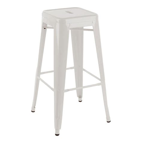Industrial high bar stool white maisey collections