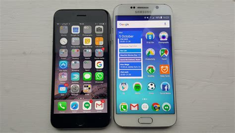 iphone 6s vs galaxy s6 review brilliant failed smartphones