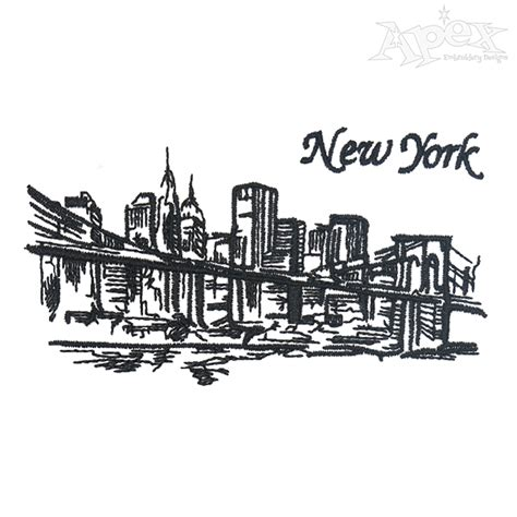 embroidery design ny new york city embroidery design
