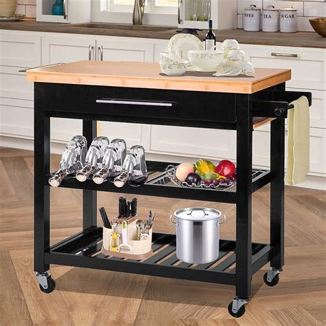 kitchen island with wood top merax kitchen island with wood top reviews wayfair
