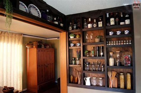 built in shelves built in kitchen wall shelves hometalk