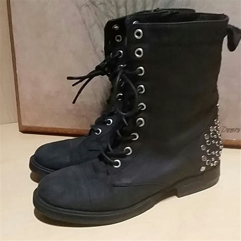 steve madden moto boots steve madden steve madden black suede studded lace up