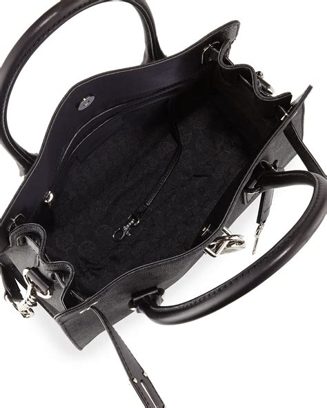 Dompet Michael Kors Mk Resleting michael michael kors hamilton mk logo satchel bag in black