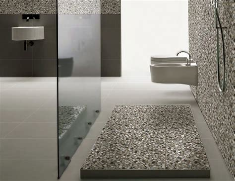pebble floor bathroom design ideas home design garden
