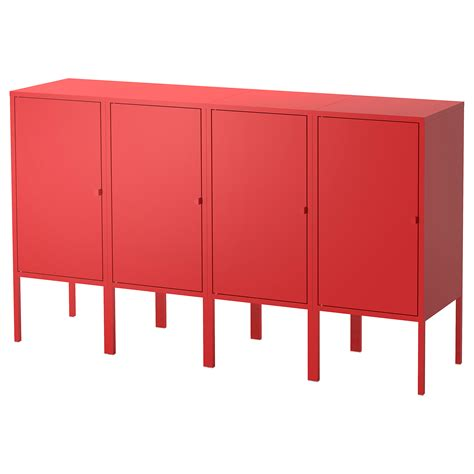 ikea lixhult lixhult storage combination red 140x82 cm ikea