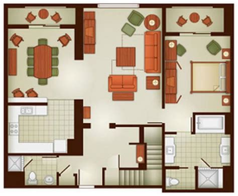 grand floridian 2 bedroom villa floor plan dvc rental grand californian hotel spa