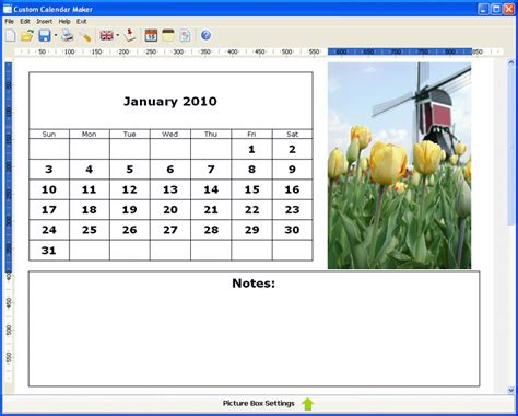 how to make a personal calendar with pictures custom calendar maker screenshot page