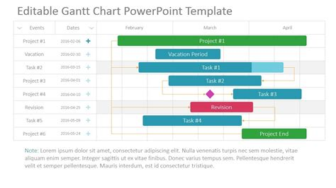 chart powerpoint template gantt chart ppt template free exle of