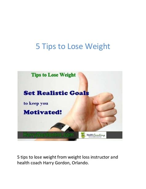 1 weight loss tip 5 tips to lose weight from weight loss instructor orlando