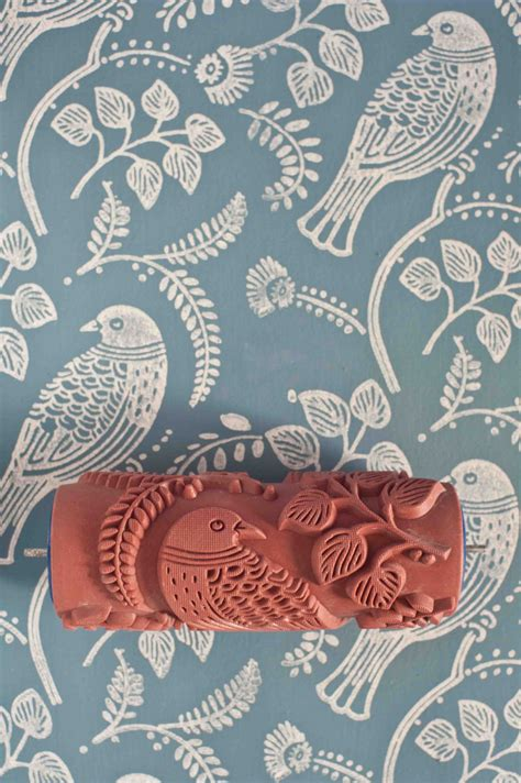 wallpaper paint roller tuvi patterned paint roller from the painted house