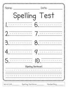 Spelling Test Template 10 Words by 25 Best Ideas About Spelling Test On