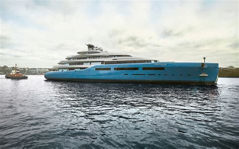 yacht aviva 98m superyacht aviva hits the water at abeking and