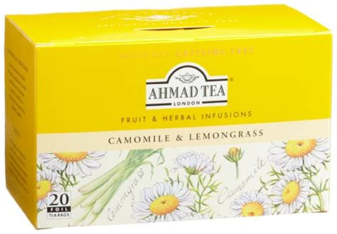 Ahmad Tea Detox 20 Count Pack Of 6 by Ahmad Tea Camomile Lemongrass Infusion 20 Count Tea