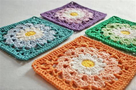 crochet granny square 10 flower square crochet patterns to stitch
