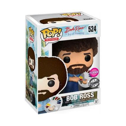 Clean Pop Limited toys pop tv bob ross flocked limited edition funko