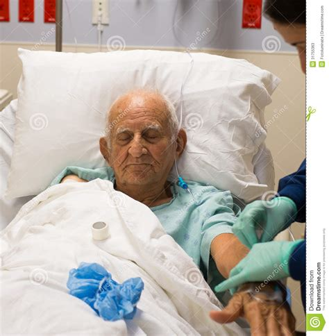 old bed guy elderly man stock photos image 31755363