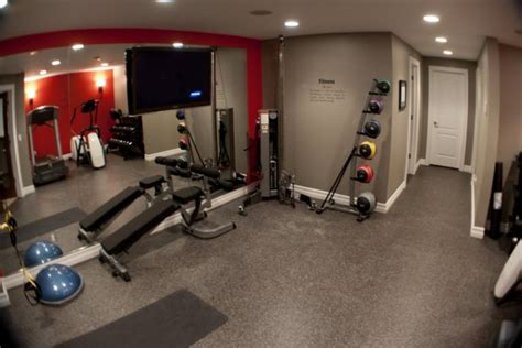 Basement home gym flooring   Basement Gallery