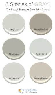 shades of grey paint 6 shades of gray trendy favorites decorating your