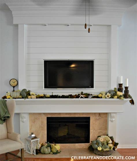 shiplap fireplace decorating with shiplap celebrate decorate