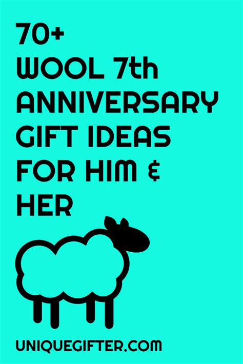 70 wool 7th anniversary gifts for him and unique gifter