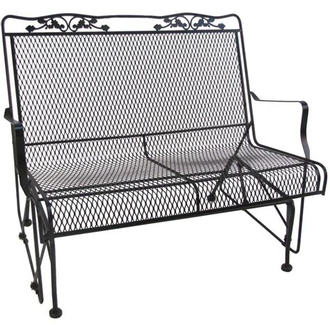 patio glider bench metal glider sofa powdercoated red vintage metal patio gliders thesofa