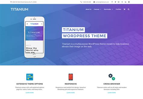 masonry layout bootstrap titanium multipurpose wordpress theme wordpress