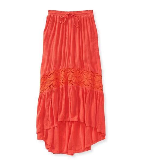 aeropostale womens length lace insert maxi skirt ebay