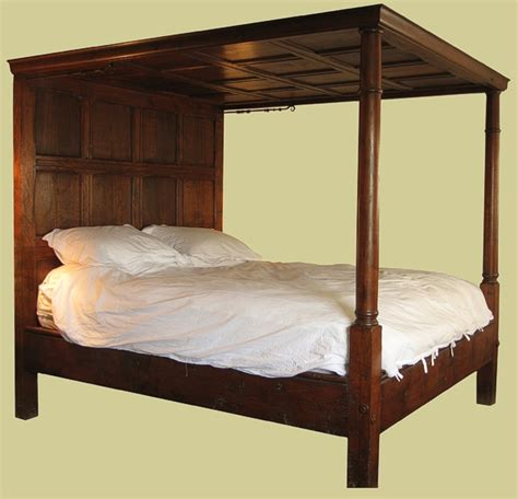 bed tester tester bed panelled bed hand crafted solid oak bed