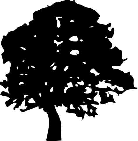 free clipart silhouette tree silhouettes clip at clker vector clip