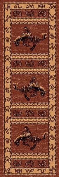 western themed rugs lodge cowboy western theme 2x8 runner area rug carpet great gift idea